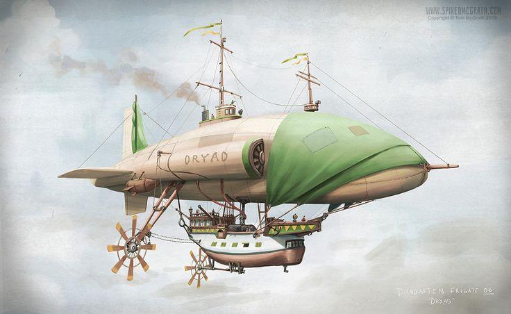 "The Pirate Ship ""Dryad"", Tom McGrath on ArtStation at https://www.artstation.com/artwork/1N6OG"