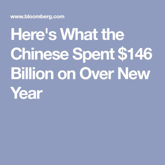 Here's What the Chinese Spent $146 Billion on Over New Year
