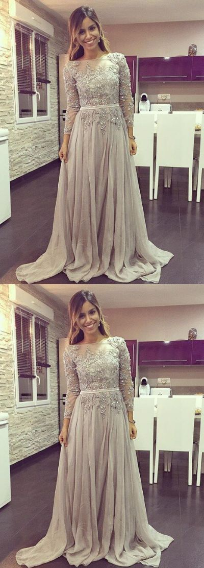 Long Sleeve Prom Dress,Long Prom Dresses,Prom Dresses,Evening Dress, Prom Gowns, Formal Women Dress,prom dress P0707 #promdresses #longpromdresses #2018promdresses #fashionpromdresses #charmingpromdresses #2018newstyles #fashions #styles #hiprom #silvergrayprom