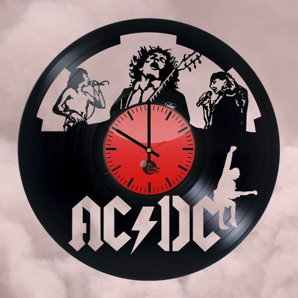 ACDC music Handmade Vinyl Record Wall Clock - VINYL CLOCKS