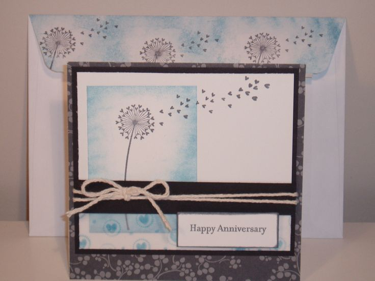 Anniversary card, Rebecca Doumouras, Embellished with Sentiment