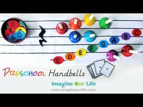 Preschool Handbells: New-Sew Felt Musical Notes and Printables | Imagine Our Life