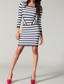 Striped seamless dress