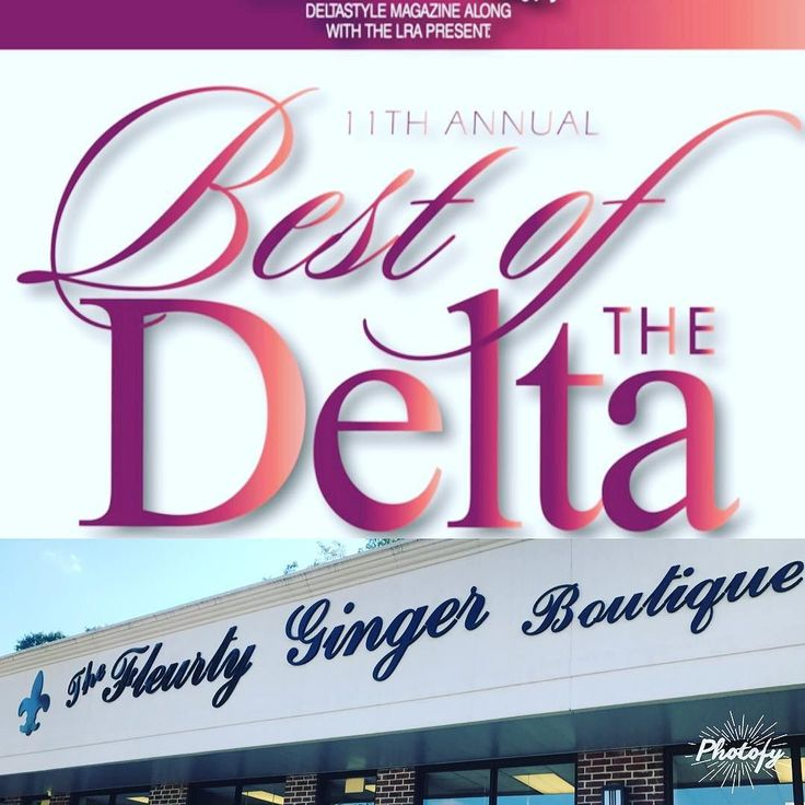 It's Best of the Delta time again! We thank you so much for supporting local business and trusting us to help clothe you in stylish trendy pieces for every season! It's nomination time for your favorites and we would love The Fleurty Ginger Boutique to be one of your choices for Best Local Women's Clothing and Best Locally Owned Business! Follow the link below and vote your favorites  . . http://ift.tt/2uSZJTm