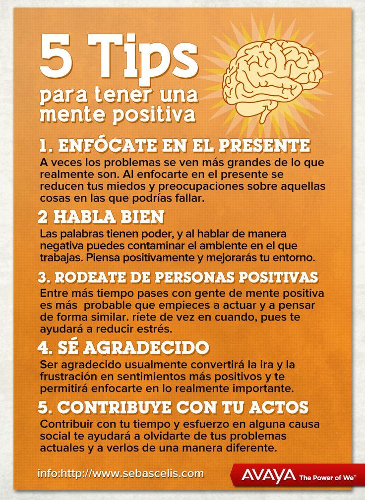 5 tips para tener una mente positiva positivismo - Energias positivas en las personas ...