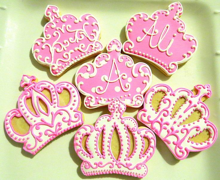 Princess Crown Sugar Cookies