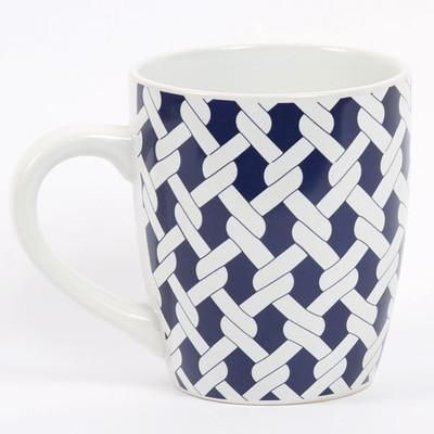 This rope-inspired mug is a must-have at breakfast. | $8