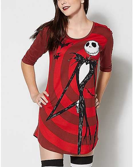 Jack Skellington Sleep Shirt - The Nightmare Before Christmas - Spencer s 6896b2d57