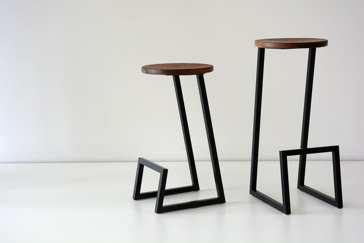 Low solid wood stool with footrest CORKTOWN | Low stool by hollis+morris