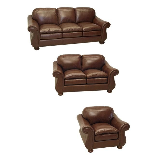 Sofa Beds The Yale mahogany Italian leather sofa loveseat and chair set is handcrafted using time