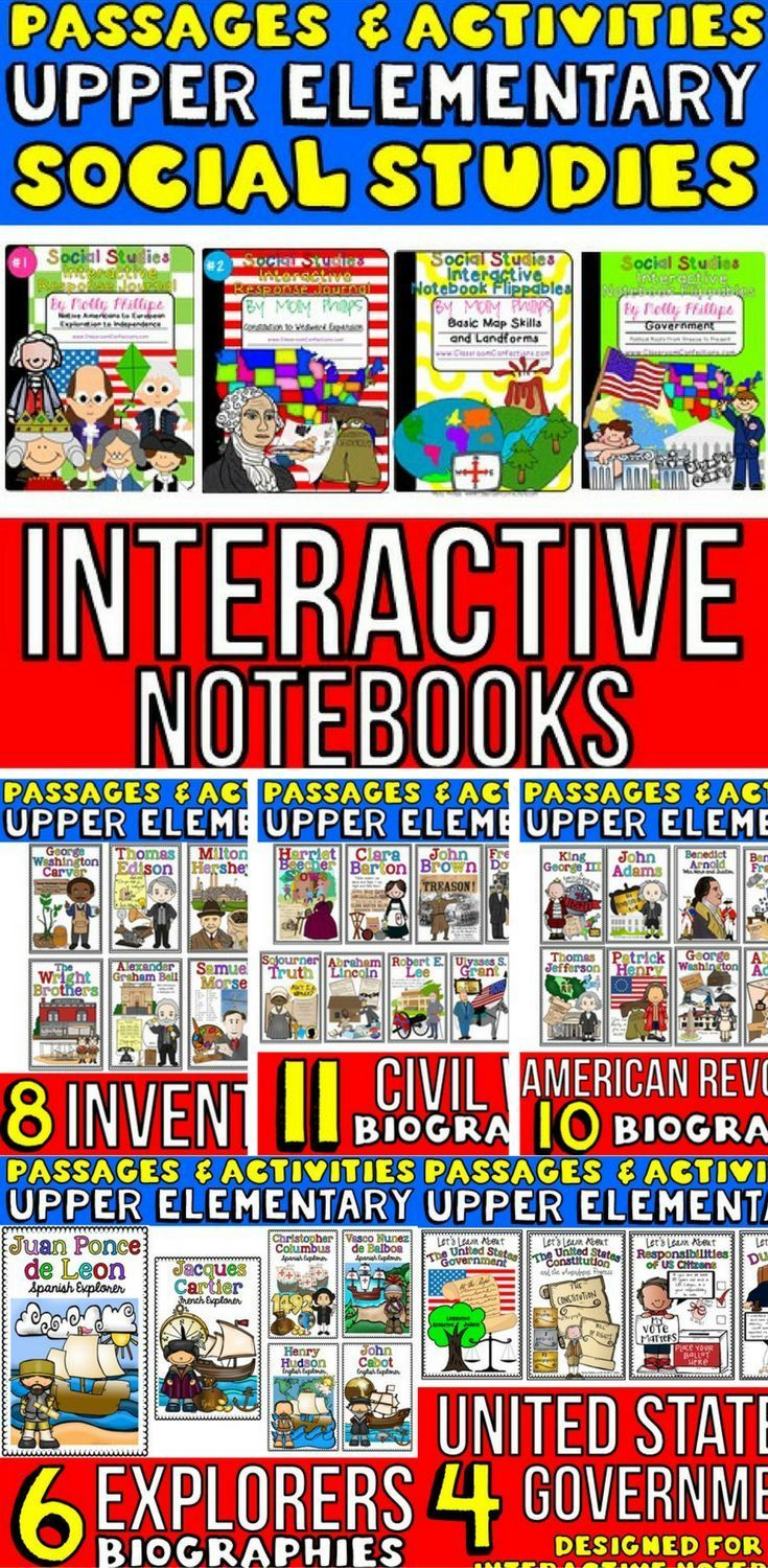 4th Grade Social Studies - 5th Grade Social Studies: his is a mega bundle of material to help you teach social studies to upper elementary students, mainly 4th grade and 5th Grade. You may find it suitable for higher grades. It has Social Studies Interact