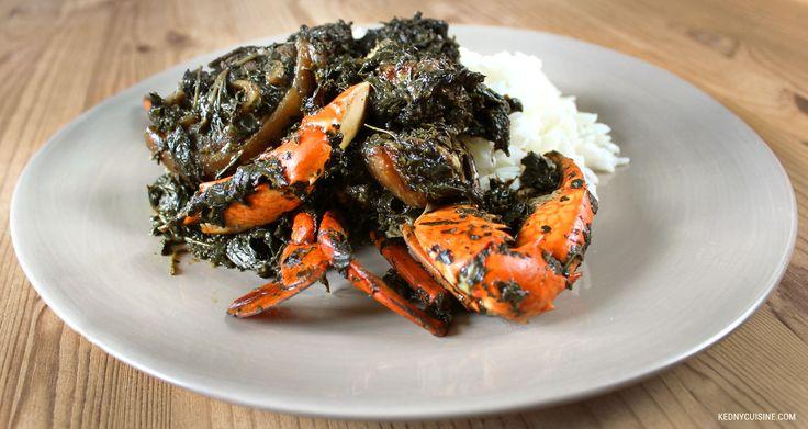 Une recette de lalo haïtien inspirée la recette traditionnelle haïtienne. Le lalo haïtien est un plat de légumes à base de feuilles servi avec du riz blanc.