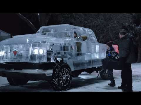 Watch this awesome truck made of Ice ! Only in Canada=) Have a nice weekend! #CanadianTire #IceTruck #Canada