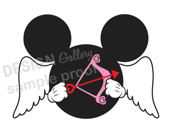 mickey mouse cupid valentines day image diy printable iron on t shirt transfer instant download