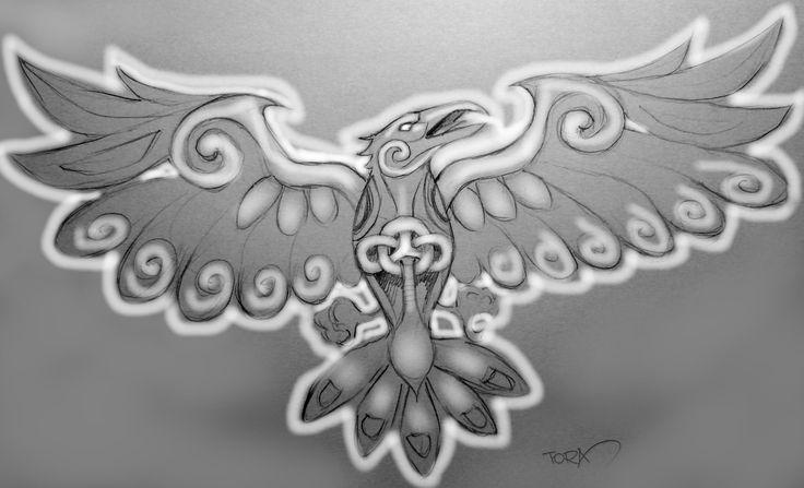 Raven tattoo celtic design tora gabriel