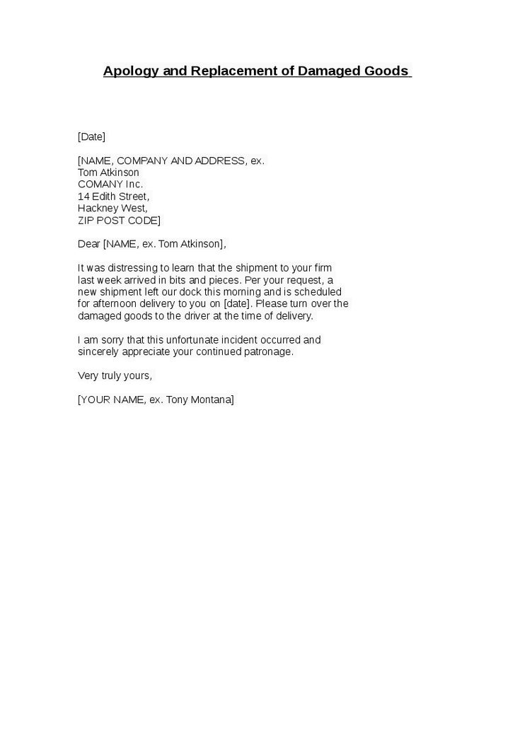 Apology Letter To Customer For Mistake Personal Apology Letter