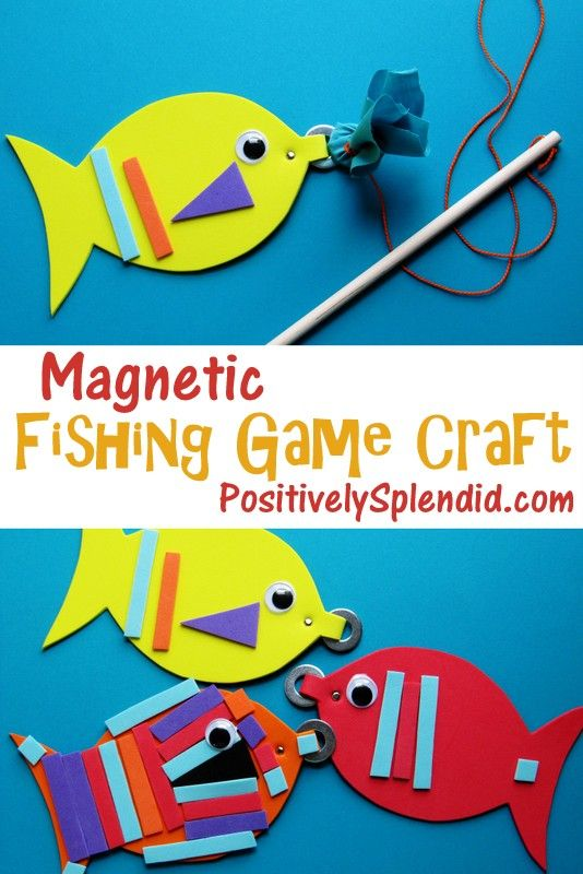 This magnetic fishing game doubles as a kids' craft AND a fun game! Such a cute idea.: Crafts Kids Fish, Cute Ideas, Games Crafts, Fish Games For Kids, Kids Crafts, Fun Games, Kid Crafts, Magnets Fish Games, Fishing Games
