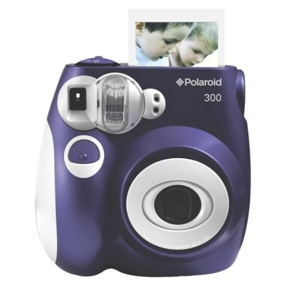 Guestbook idea: People could take a picture, paste it in the guestbook, and write a note :)   Polaroid 300 Instant Camera - Purple (PIC-300L)