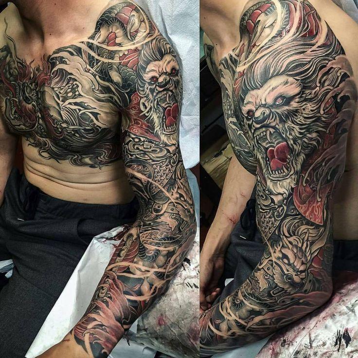 18 besten samurai tattoos bilder auf pinterest japan tattoo japanische tattoos und tattoo. Black Bedroom Furniture Sets. Home Design Ideas