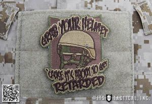 Our Grab Your Helmet Patch is definitely not for the easily offended. What started as an internal joke here at ITS, has manifested itself into a new morale patch.