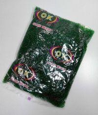 Бисер мелкий: цвет сочная зелень, прозрачный, вес 450 грамм, производство Китай.