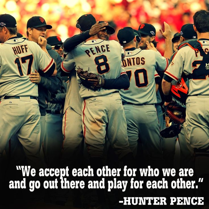 """""""We accept each other for who we are and go out there and play for each other."""""""