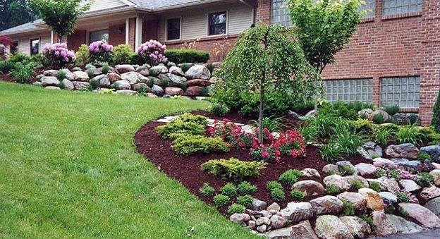 Red Landscaping Stone : Pretty red lava rock landscaping read more on http