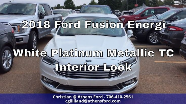 2018 Ford Fusion Energi Titanium - White Platinum Metallic Tri-Coat - In...