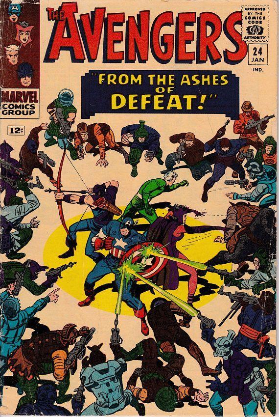Avengers 24 January 1966 Issue Marvel Comics Grade G/VG