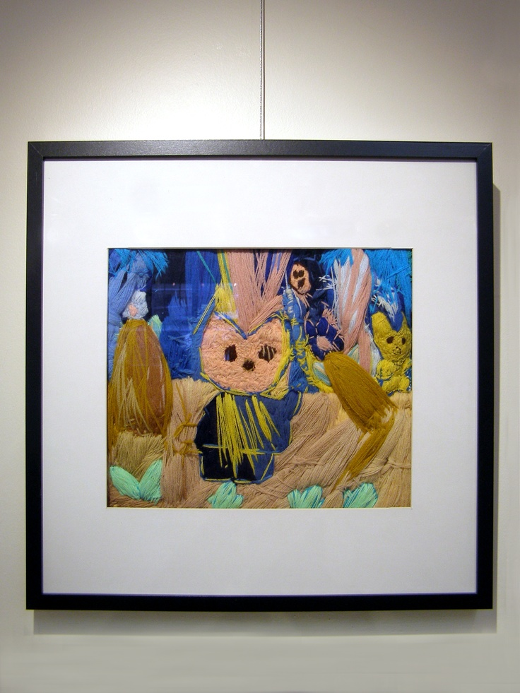 "2011 JC In-House Honorable Mention: Laura W for her stitchery, ""The Rabbit"". #janecameron #disabilityart"