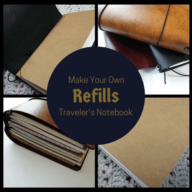make your own traveler's notebook refills