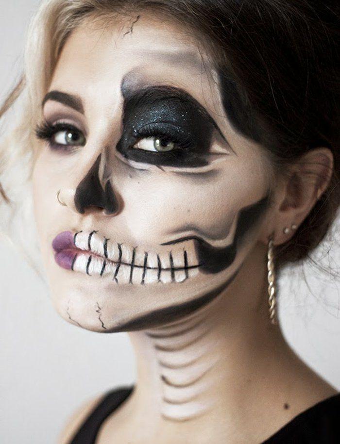 Pour la fête de Toussaint , maquillage pour halloween