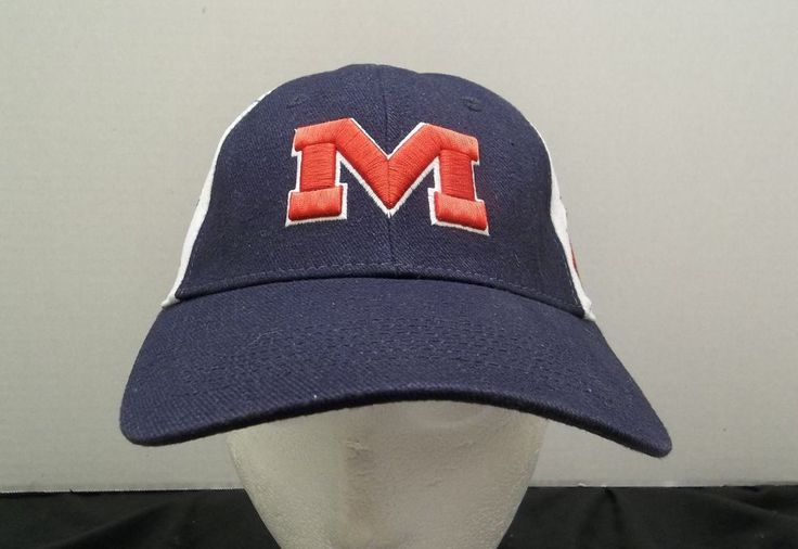 University of Mississippi Red & Blue Hat Adjustable Ole Miss Cap NCAA