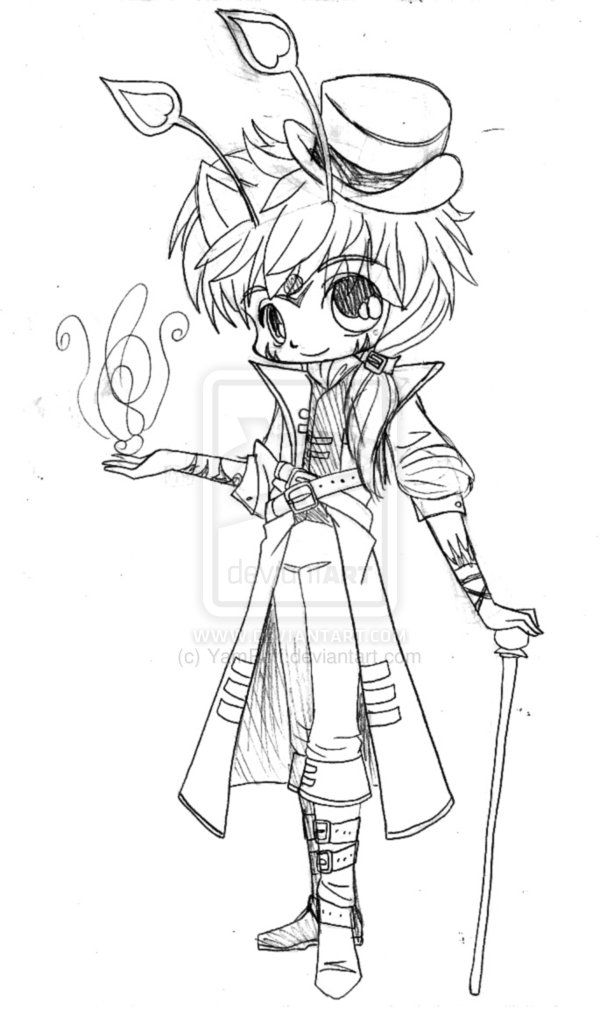 Lake Steampunk Chibi Sketch By YamPuff On DeviantArt