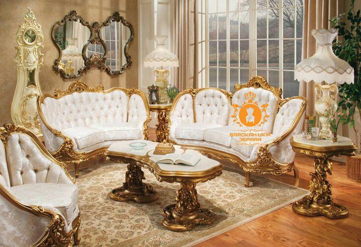Kursi Tamu Klasik Ukir Jepara Gold Leaf Victorian Living Room Baroque Living Room Victorian Living Room Furniture