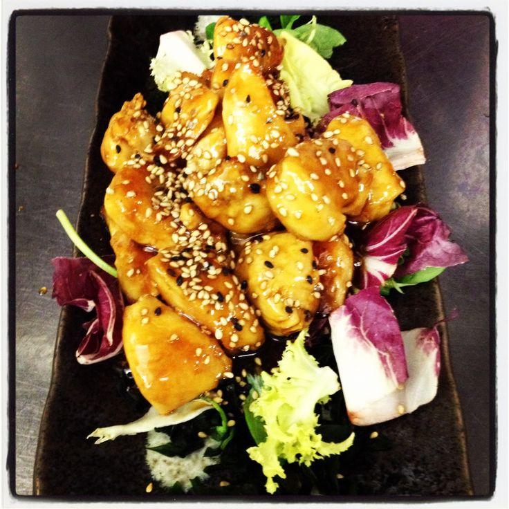 tori no teryaki, pollo con salsa giapponese