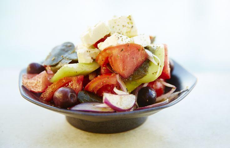 Greek salad at the Belvedere Club, Belvedere Hotel Mykonos. Photo credits: John Russo