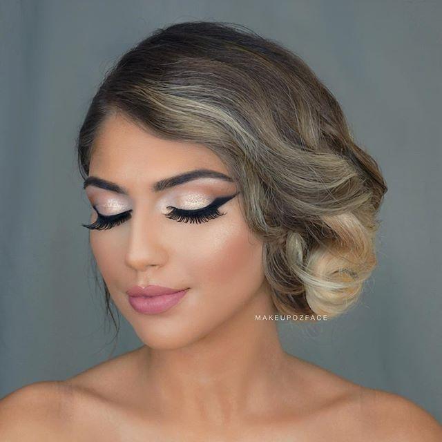 Beauty  . . . . .  #makeupozface #hairstyle #newyear #makeuplook #makeuptutorial #makyaj #makyajblogu #makyajblog #afghan #turkiye #turkey #love #brunette #bride #gelin #bruid #visagie #visagist #hudabeautyrosegoldpalette #anastasiabeverlyhills #wakeupandmakeup #makeupgeek #gelinmakyajı #nudelips #browneyes #makeupdolls #glitterlook #nye #nyemakeup