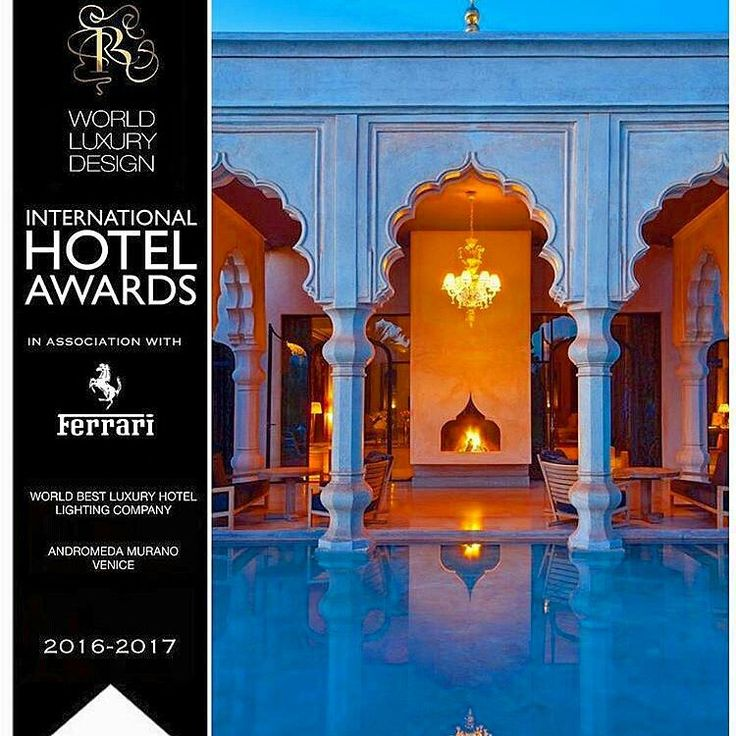 INTERNATIONAL HOTEL AWARDS 2016 -2017- World Luxury Design in association with Ferrari chose Andromeda as  World best luxury hotel lighting company