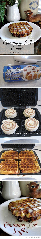 Delicious cinnamon waffle rolls!!!!!!!!!!!! :)