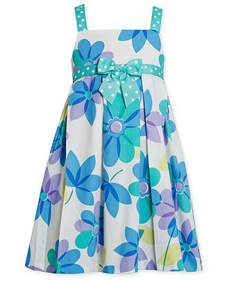Bonnie Jean Girls Dress, Little Girls Floral Sundress - Kids Girls Dresses - Macy's