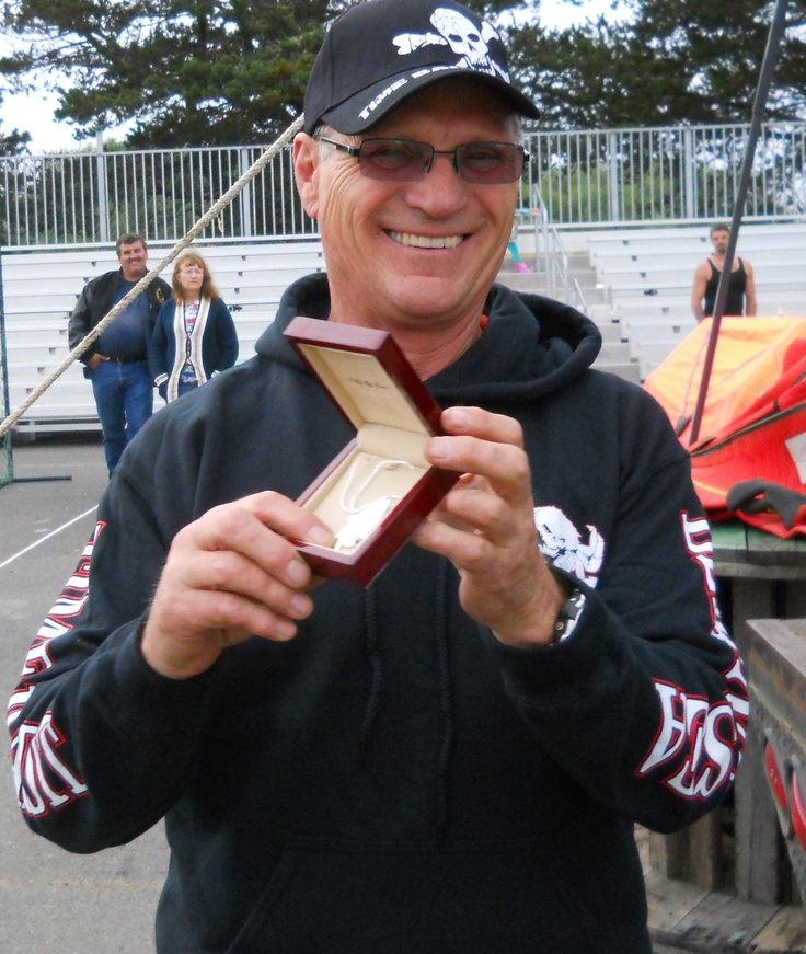 ...and here is the overall 2012 HIGHLINER OF THE YEAR, Jim Simpson! Jim is 63 and received a perfect score in the skill section, competing just fast enough to beat a man 40 years his junior for the overall title!  Congratulations, Jim!