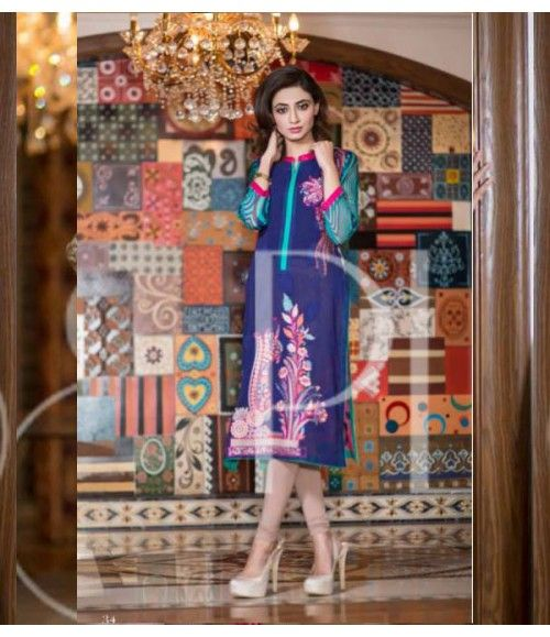 Plush Embroidered Kurti Collection 2015 Vol-1 by Riaz Arts EK-09