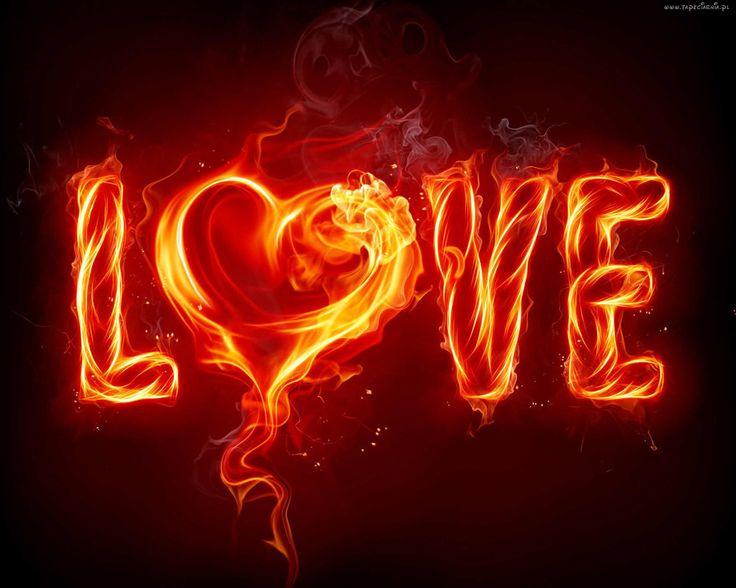 Abstrakcja, ogień, love