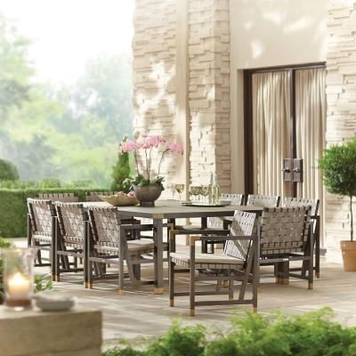 Brown Jordan Form 84 in. x 60 in. Rectangular Patio Dining Table -- STOCK-DY11114-TT - The Home Depot
