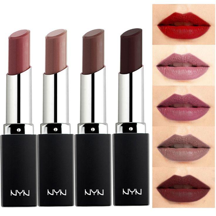 Branded Makeup Lip Cosmetics 10 Colors Long Lasting Waterproof Pigment Matte Brown Wine Lipstick Nude Lot Makeup kosmetika