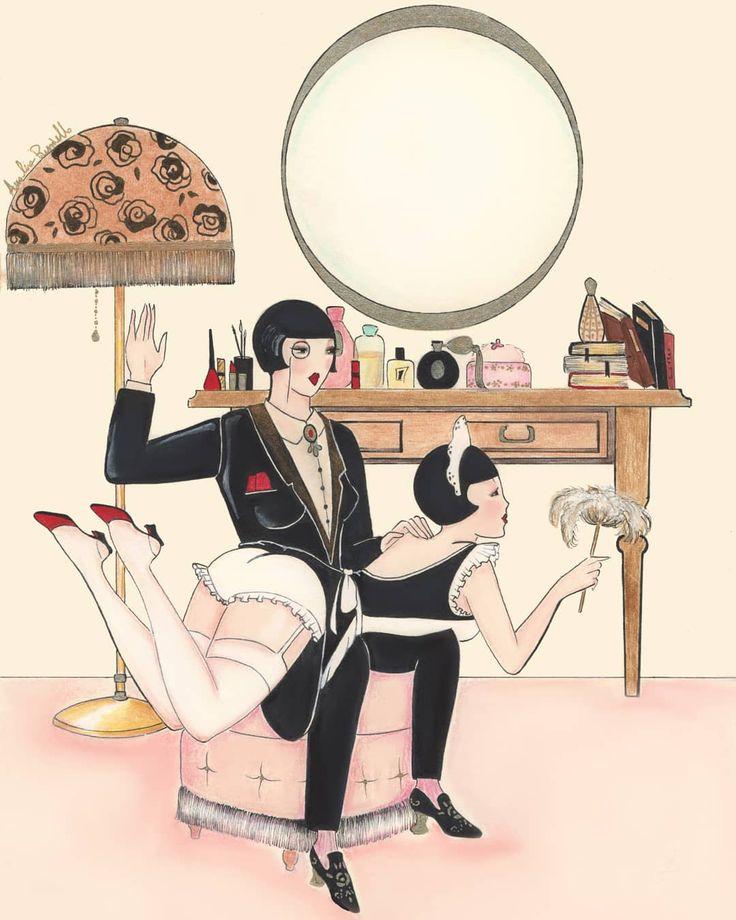 "446 Likes, 4 Comments - Amalia Russiello (@madame_dabi) on Instagram: ""Dandy's Boudoir ❤🎩 #maid #frenchmaid #eroticillustration #eroticart #vintagemood #vintageerotica…"""