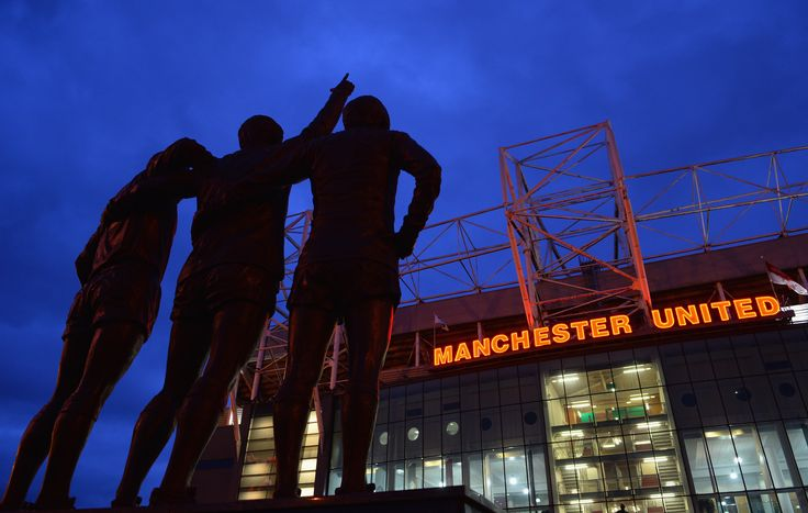 Three @manutd legends; Best, Law and Charlton, immortalised outside Old Trafford.