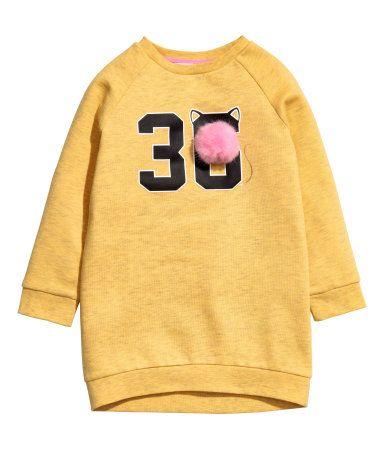 Sweatshirt mit Motiv   Gelbmeliert   KINDER   H&M DE
