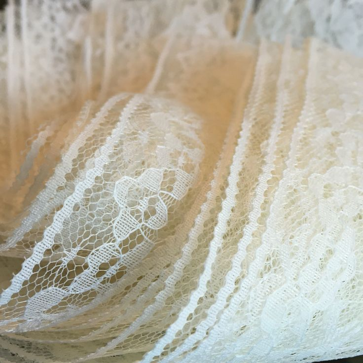 Lace invitations. Endless shapes, sizes, shades, widths, thicknesses and elasticity! So delicate to work with but if you put your mind to it and don't get up- beautiful things can be created!